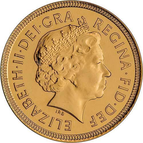 2001 Gold Half Sovereign Elizabeth II Bullion Obverse