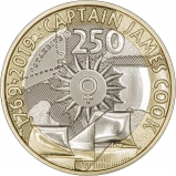 2019 250th Anniversary the Voyage of Captain James Cook BU £2 Coin Reverse