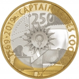 2019 250th Anniversary the Voyage of Captain James Cook Silver Proof £2 Coin Reverse