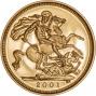 2001 Gold Half Sovereign Elizabeth II Proof Reverse