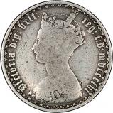 1856 Victoria Gothic Silver Florin Obverse - Fair Grade