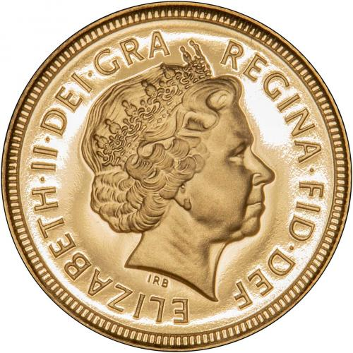 2000 Gold Half Sovereign Elizabeth II Proof Obverse