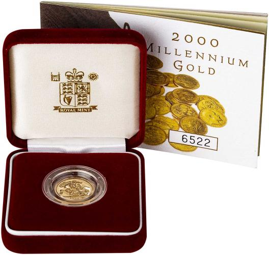 2000 Gold Half Sovereign Elizabeth II Proof Presentation Box
