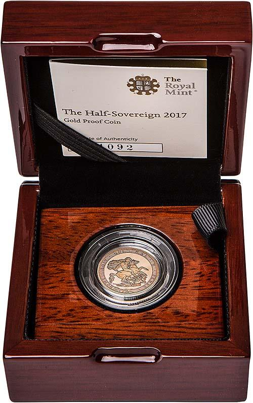 2017 Gold Half Sovereign Elizabeth II Proof 24844