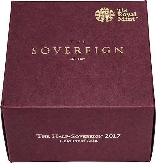 2017 Gold Half Sovereign Elizabeth II Proof 24842