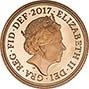 2017 Gold Half Sovereign Elizabeth II Proof 24845