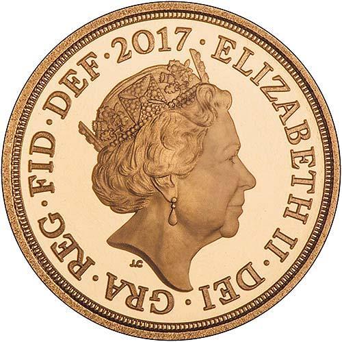 2017 Gold Quarter Sovereign Elizabeth II Proof 25292