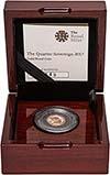 2017 Gold Quarter Sovereign Elizabeth II Proof 25293