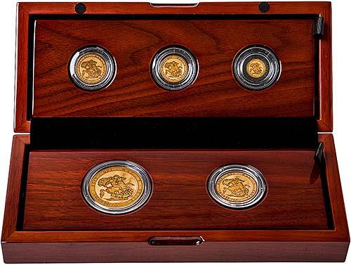 2017 Whole Coin Set Sovereign - 5 Coins Gold Proof 21261