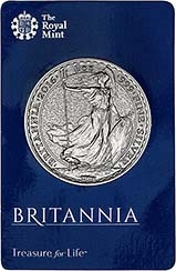 2016 1 oz Silver Coin Britannia In Card Bullion 25120