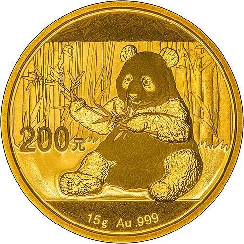 2017 15g Gold Coin Panda Bullion 25124