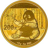 2017 15g Gold Coin Panda Bullion 25124