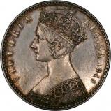 1849 Victoria Godless Silver Florin Obverse