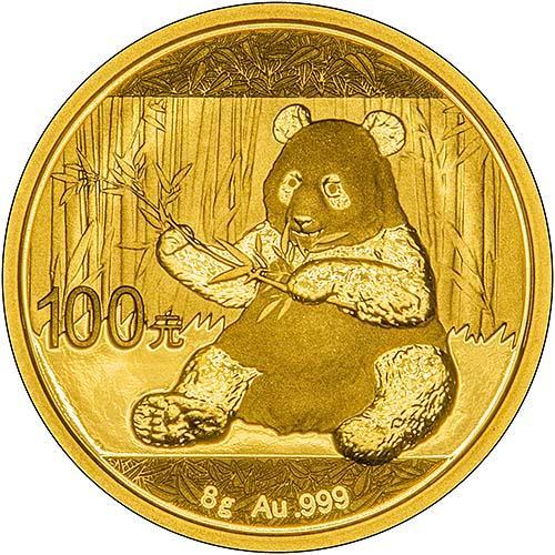 2017 Gold Panda 8 G Bullion Coin Chard