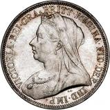 1893 Victoria Old Head Silver Florin Obverse