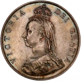 1887 Victoria Jubilee Head Silver Florin Obverse