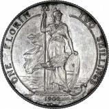 1902 Edward VII Silver Florin Matt Proof Reverse