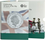2019 B.U. 50 Years of the 50p 5-Coin British Culture - Military Set Presentation Pack
