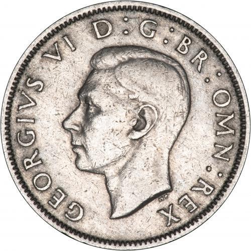 Obverse of George VI Base Metal Ordinary Circulation Florin Mixed Dates