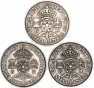 Reverse George VI Base Metal Ordinary Circulation Florin Mixed Dates