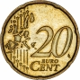 Obverse of Ordinary Circulation 20 Cent Coin Mixed Countries