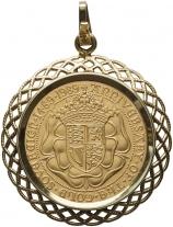 1989 Gold Sovereign In Pendant Mount Reverse