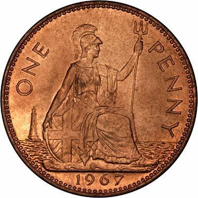 1967 Elizabeth II Uncirculated Penny