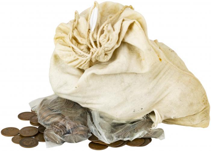 Coin Bag of George V Ordinary Circulation Pre-Decimal Penny