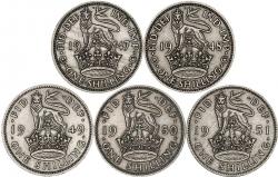 George VI Base Metal Ordinary Circulation English Shilling
