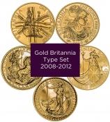 Gold Britannia Type Set
