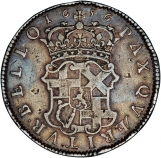 1656 Oliver Cromwell Halfcrown Reverse