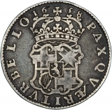 Oliver Cromwell Halfcrown Reverse