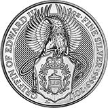 2017 2 oz Silver Coin Bullion Queen's Beasts - Griffin 25285